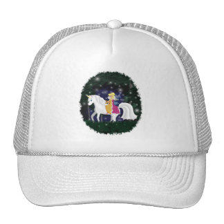 Queen Faery and Unicorn Forest Trucker Hats