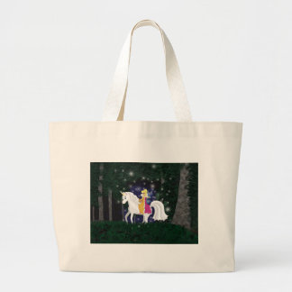 Queen Faery and Unicorn Forest Jumbo Tote Bag