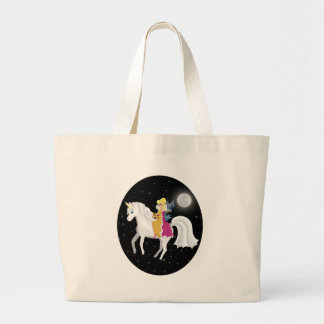 Queen Faery and Unicorn Jumbo Tote Bag