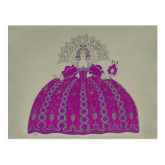 Queen Fashion Plate ~ Postcard French Vintage