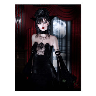 Queen for Eternity Vampire Gothic Girls Art Postcard