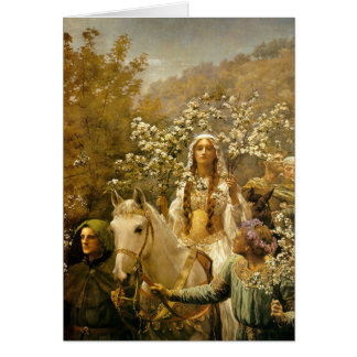 Queen Guinevere's Maying, John Collier, 1902 Card