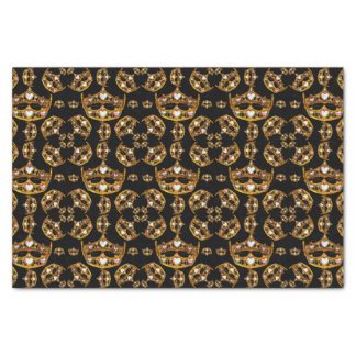 Queen hearts gold crown tiara black tissue paper