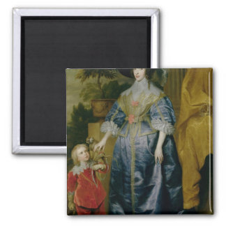 Queen Henrietta Maria and her dwarf Square Magnet