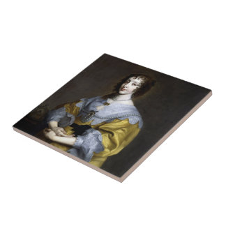 Queen Henrietta Maria Tile