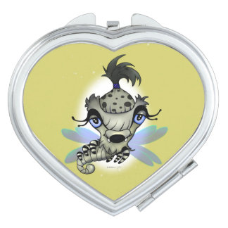 QUEEN HORSHA CARTOON compact mirror HEART