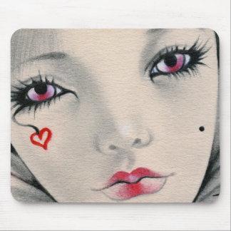 Queen jester heart face Mousepad