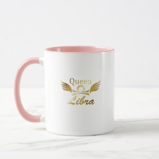 Queen Libra Zodiac Sign Birthday Gif Mug