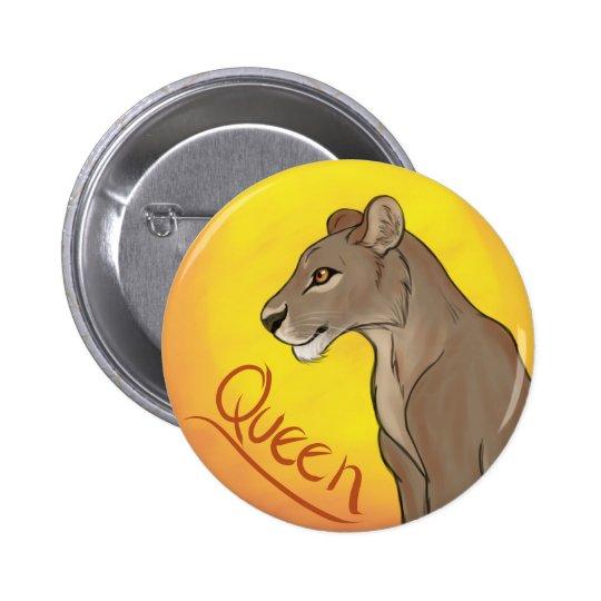 Queen Lioness 2 Inch Round Button