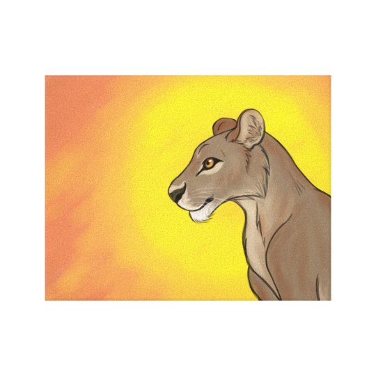 Queen Lioness Canvas Print