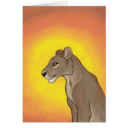 Queen Lioness Card