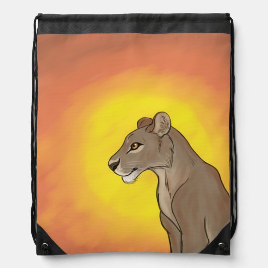 Queen Lioness Drawstring Bag