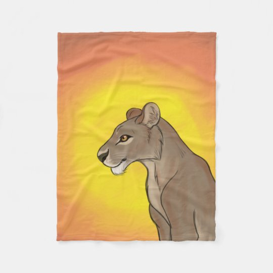 Queen Lioness Fleece Blanket