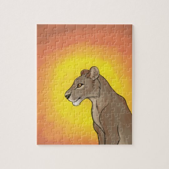 Queen Lioness Jigsaw Puzzle