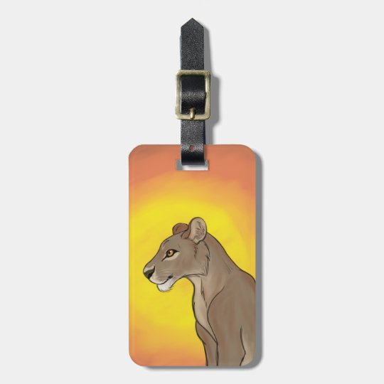 Queen Lioness Luggage Tag