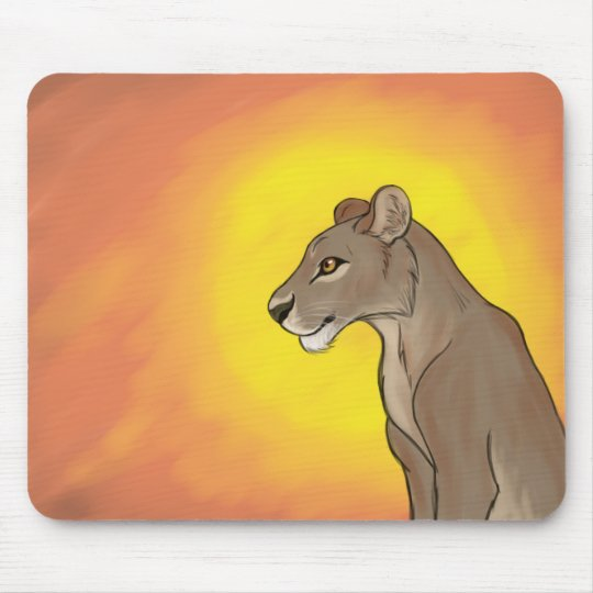 Queen Lioness Mouse Pad