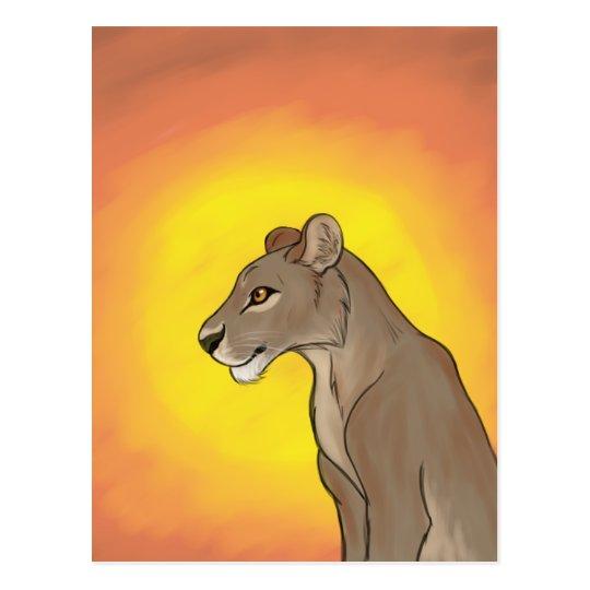 Queen Lioness Postcard