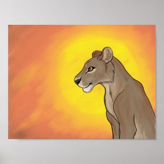 Queen Lioness Poster