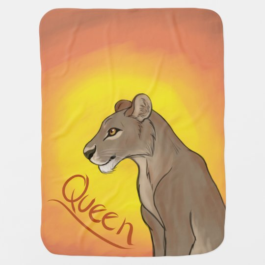 Queen Lioness Receiving Blanket
