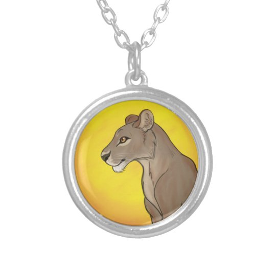 Queen Lioness Silver Plated Necklace