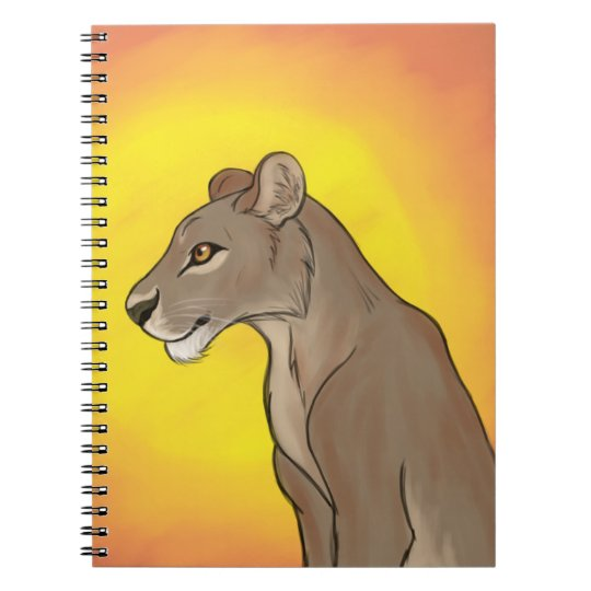 Queen Lioness Spiral Notebooks