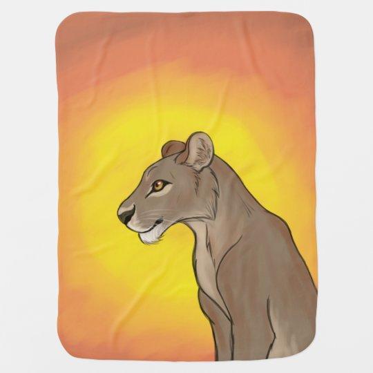 Queen Lioness Swaddle Blanket