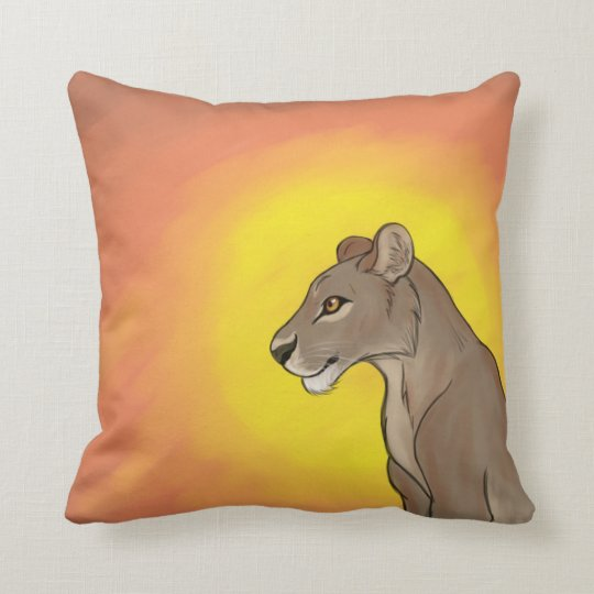 Queen Lioness Throw Pillow