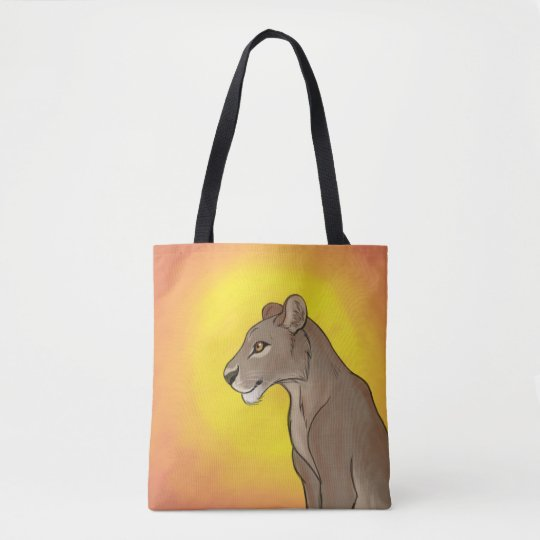Queen Lioness Tote Bag