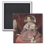 Queen Maria Anna of Spain in a red dress Refrigerator Magnets