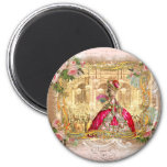 Queen Marie Antoinette at Versailles Party Pink 2 Inch Round Magnet