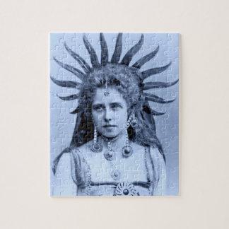 Queen Marie of Romania as the Sun Queen Jigsaw Puzzle