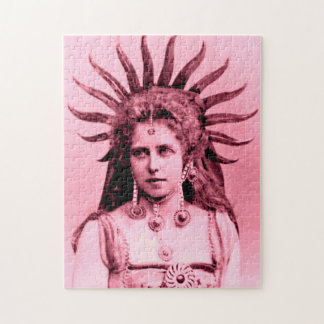 Queen Marie of Romania as the Sun Queen Jigsaw Puzzle