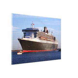 Queen Mary 2 Cruise Ship Canvas Print