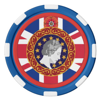 Queen Monogram U.K. Poker Chips