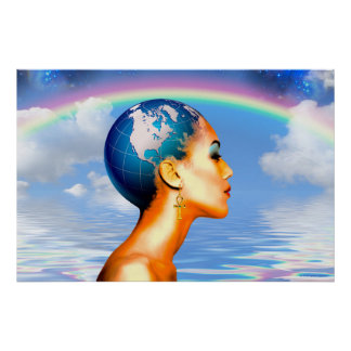 """Queen Mother Earth Rising - 36"""" x 24"""" Poster"""