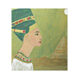 Queen Nefertiti at the Pyramid Canvas Print