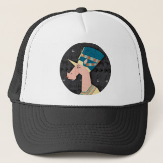 Queen Nefertiti Unicorn Trucker Hat
