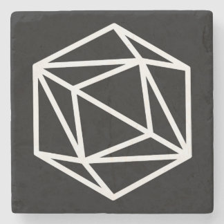 Queen (negative) / Marble Stone Coaster