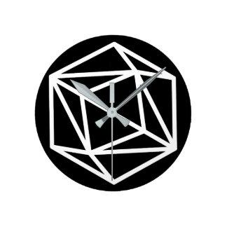 Queen (negative) / Round (Medium) Wall Clock