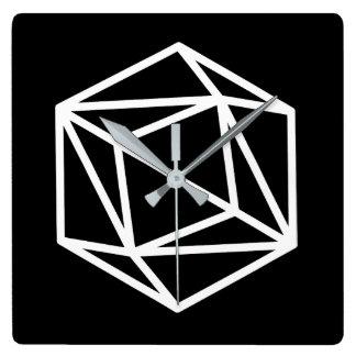 Queen (negative) / Square Wall Clock