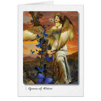 Queen of Aether Tarot Greeting Card