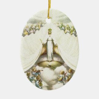 Queen of Angels Ceramic Ornament