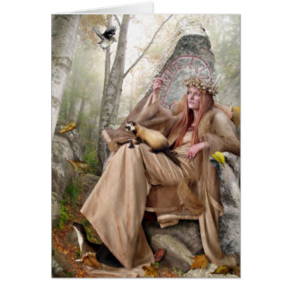 Queen of Autumn - Greeting Card