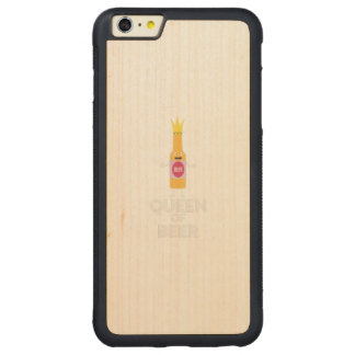 Queen of Beer Zh80k Carved Maple iPhone 6 Plus Bumper Case
