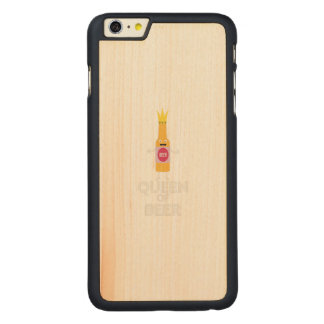 Queen of Beer Zh80k Carved Maple iPhone 6 Plus Case
