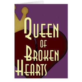 Queen of Broken Hearts Card