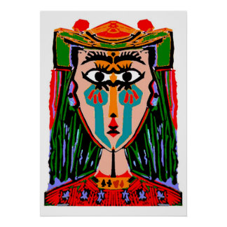 Queen of Cards Abstract Print