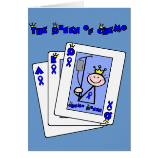 Queen of Chemo - Colon Cancer Card
