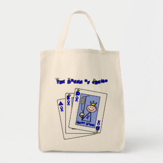 Queen of Chemo - Colon Cancer Grocery Tote Bag