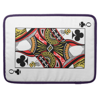 Queen of Clubs - Add Your Image Sleeve For MacBook Pro